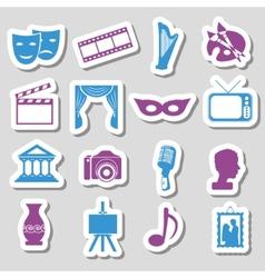 Culture stickers vector
