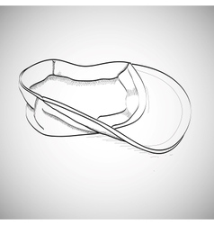 Drawing caps sketch baseball cap lying on the vector image vector image