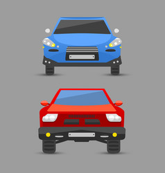 flat car vehicle type design sign technology style vector image vector image