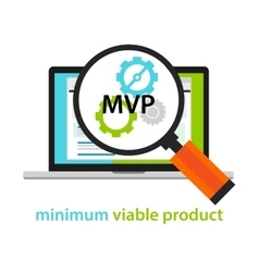 MVP minimum viable product start-up working gear vector image