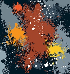 sketch colored blots ink stains vector image vector image
