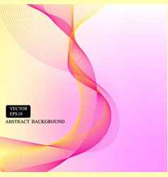 Yellow pink smooth line background vector