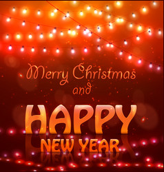 2018 happy new year colourful glowing christmas vector image