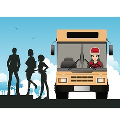 Bus Driver vector image