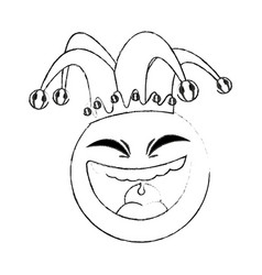 clown cartoon icon image vector image