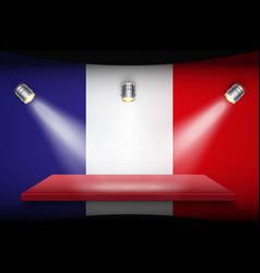 flag of france and platform vector image