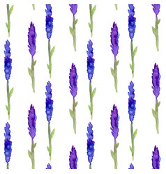 Lavender seamless pattern in watercolor pattern vector