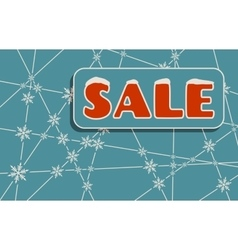 Sale inscription with snowflakes vector image vector image