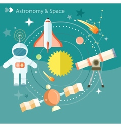 Space and astronomy vector image vector image