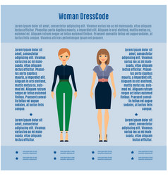 woman dress code infographic vector image