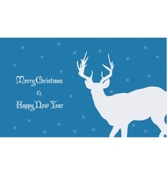 Backgrounds Merry Christmas with deer vector image