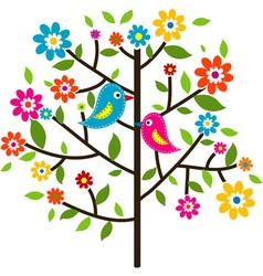 Decorative floral tree vector image vector image
