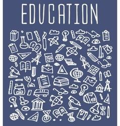 Hand drawn school education seamless logo vector