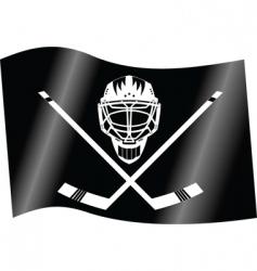 hockey flag vector image vector image