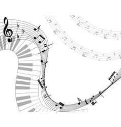 music staff vector image vector image
