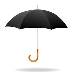Realistic black umbrella vector
