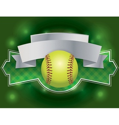 softball banner vector image