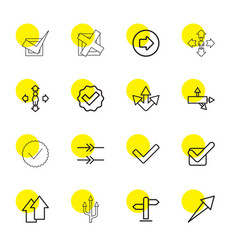 16 right icons vector