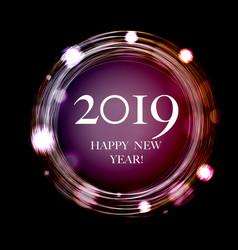 2019 new year postcard vector