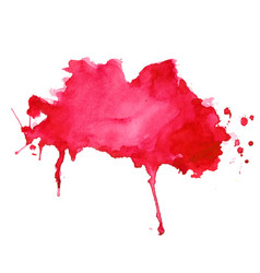 Abstract red watercolor splash texture background vector