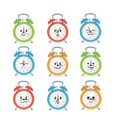 alarm clock characters mascot set vector image