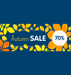 autumn final sale concept banner flat style vector image