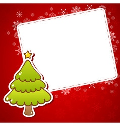 Beautiful Christmas greeting card vector image
