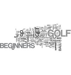 Beginners golf text word cloud concept vector