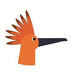 Bird head cartoon vector