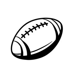 black and white rugby ball vector image