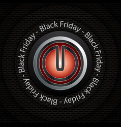 black friday power button vector image