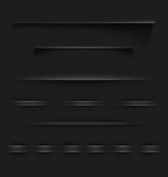 Black paper shadow lines vector