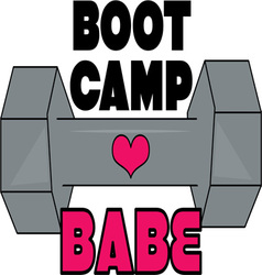 Boot Camp Babe vector image