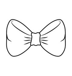 Bowtie icon Suit male part design graphic vector