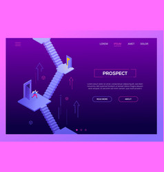 business prospect - modern isometric vector image