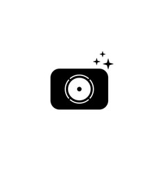 Camera graphic design template isolated vector