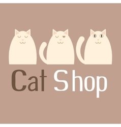 Cat sign for pet shop logo vector