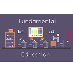Chemistry education class room flat design vector