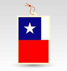 chilean made in tag vector image