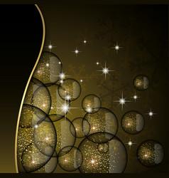 Christmas glitter card vector