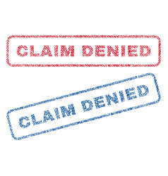 Claim denied textile stamps vector