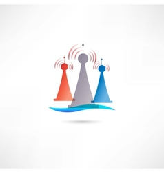 colored antennas vector image