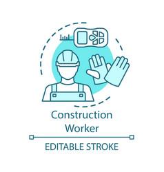 construction worker concept icon builder laborer vector image