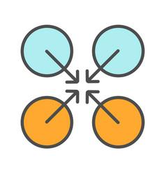cooperative symbol color icon vector image
