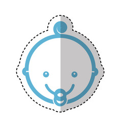 cute baby head icon vector image