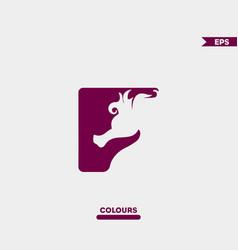 cute seahorse logo vector image