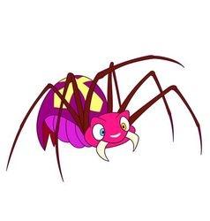 Cute spider vector