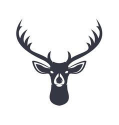 Deer head dark blue silhouette vector