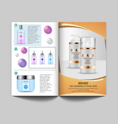 design template of magazine pictures of vector image