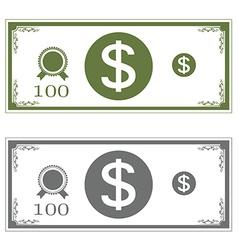 Dollars money vector